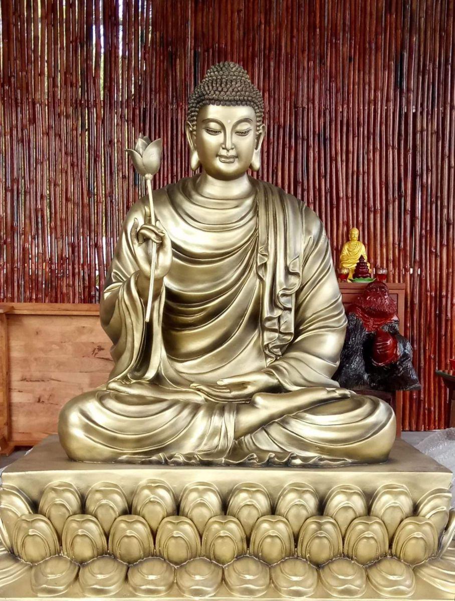 Tượng Phật thích ca chất liệu composite 09