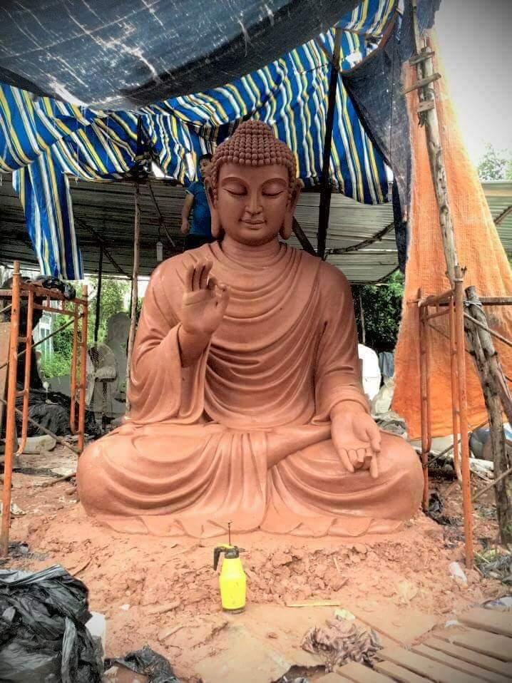 Tượng Phật thích ca bằng chất liệu composite 06