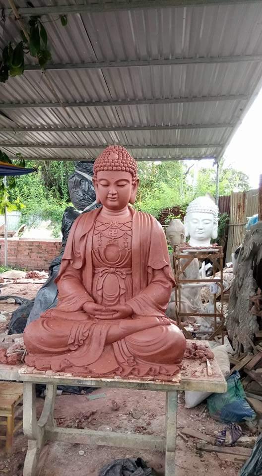 Tượng Phật thích ca bằng chất liệu composite 04