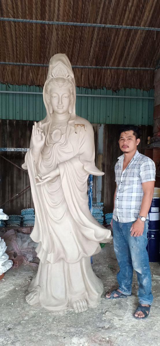 Tượng Phật quan âm bồ tát composite 01